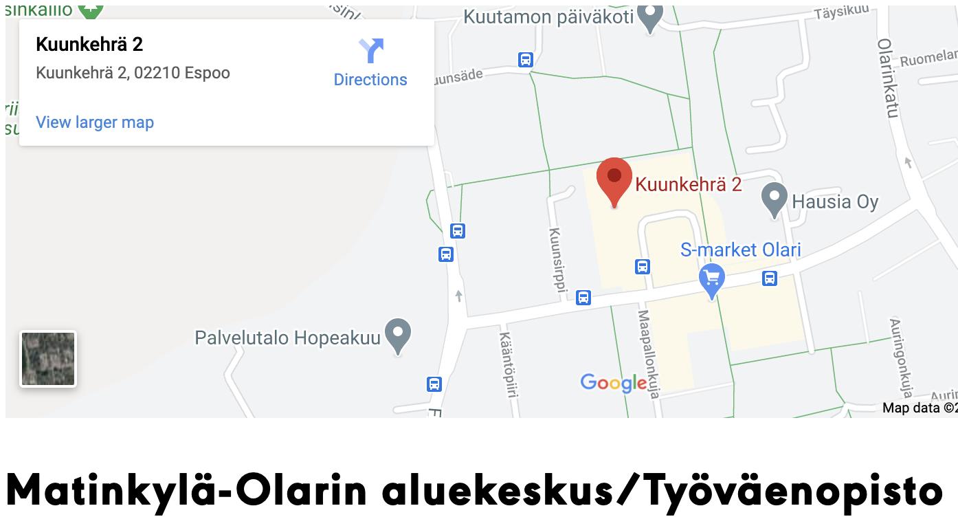 Espoon työväen opisto, Matinkylä-Olari, Olari, Omnia
